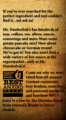 About Mr Dunderbaks